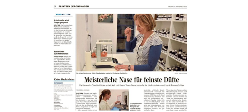 Meisterliche Nase für feinste Düfte, Kieler Nachrichten vom 13.11.2020